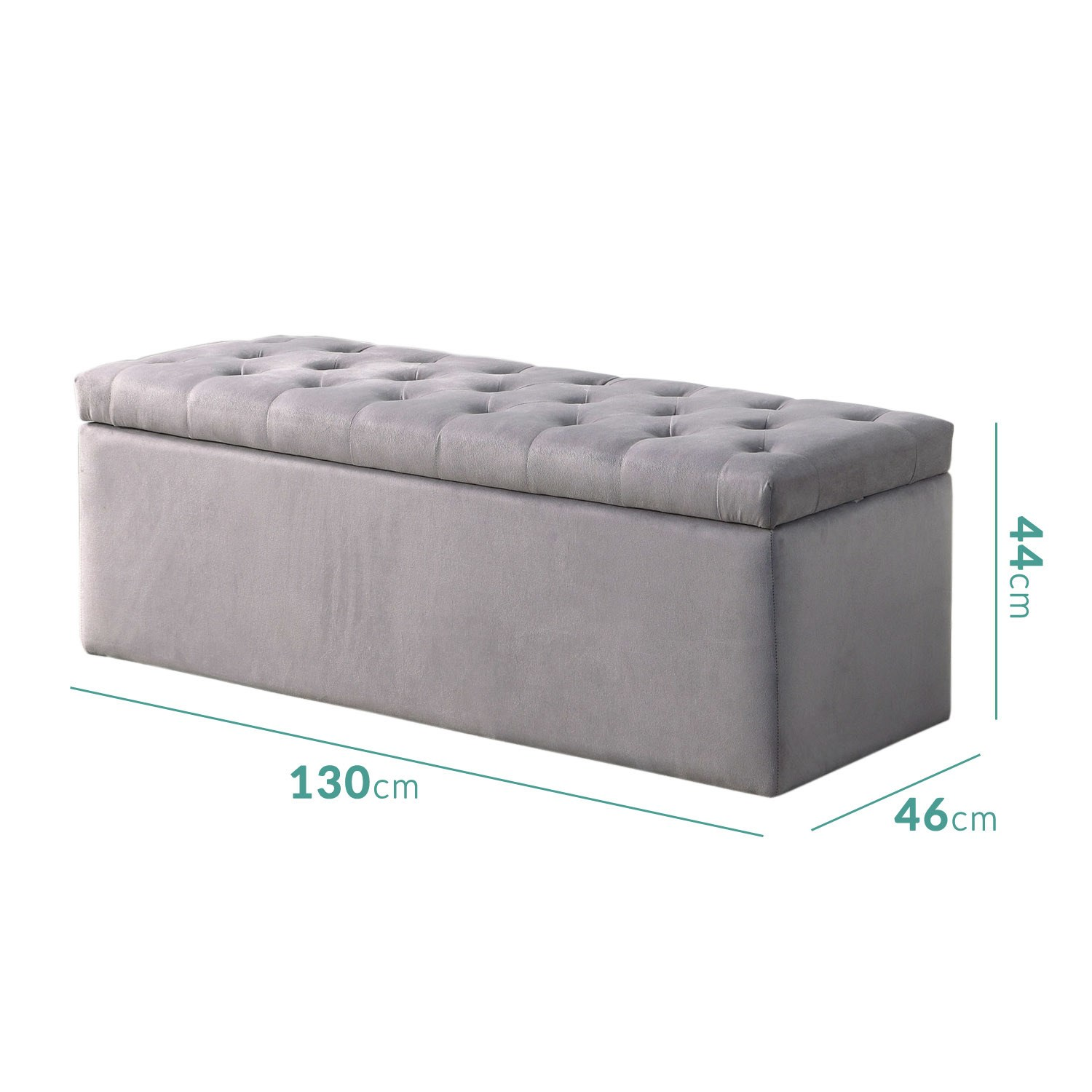 Awe Inspiring Safina Ottoman Storage Box In Grey Velvet Machost Co Dining Chair Design Ideas Machostcouk