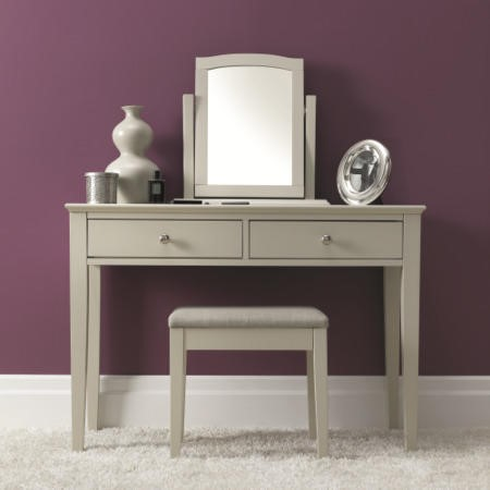 Bentley Designs Ashby Dressing Table Stool In Cotton White
