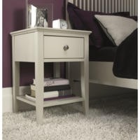 Bentley Designs Ashby 1 Drawer Nightstand In Cotton White