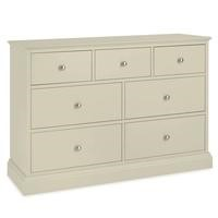 Bentley Designs Ashby 4+3 Drawer Chest In Cotton White