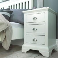 Bentley Designs Hampstead White 3 Drawer Bedside Table
