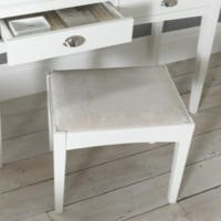 Bentley Designs Hampstead White Dressing Table Stool
