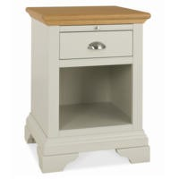 Bentley Designs Hampstead Side Table in Soft Grey and Oak