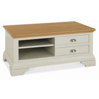 Bentley Designs Hampstead Coffee Table in Soft Grey and Oak