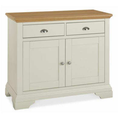 Bentley Designs Hampstead Narrow Sideboard in Soft Grey and Oak