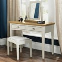 8007-90 Bentley Designs Hampstead Dressing Table in Soft Grey and Oak