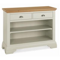 Bentley Designs Hampstead Console Table in Soft Grey and Oak