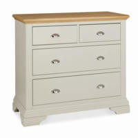 Bentley Designs Hampstead 2+2 Drawer Chest in Soft Grey and Oak