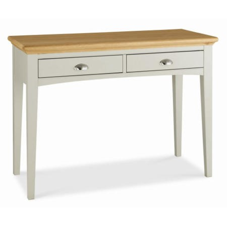 Bentley Designs Hampstead Dressing Table in Soft Grey and Oak