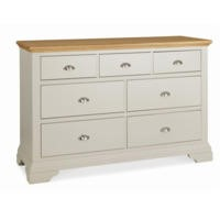 Bentley Designs Hampstead 3+4 Drawer Chest in Soft Grey and Oak