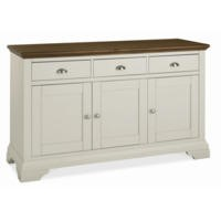 GRADE A1 - Bentley Designs Hampstead Wide Sideboard in Soft Grey and Walnut