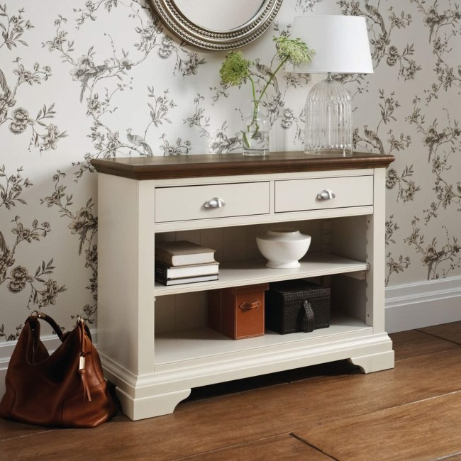 Bentley Designs Hampstead Console Table in Soft Grey and ...
