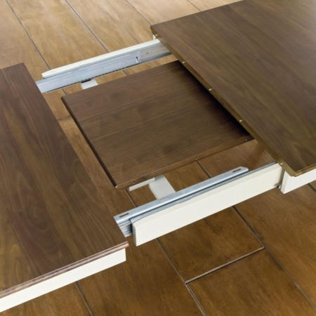 Bentley Designs Hampstead Extending Dining Table in Grey and Walnut
