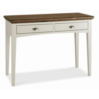 Bentley Designs Hampstead Dressing Table in Soft Grey and Walnut