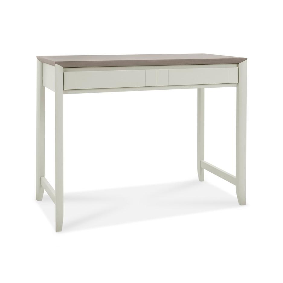 Bergen Office Desk in Soft Grey & Washed Oak | Furniture123