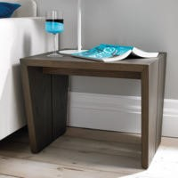 City Weathered Oak and Grey Panel Lamp Table