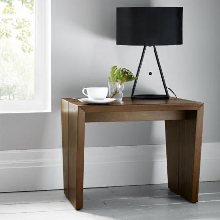 Bentley Designs City Walnut Panel Lamp Table Furniture123