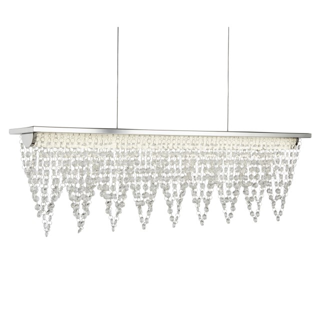 LED Ceiling Light with Chrome Crystals - Drape