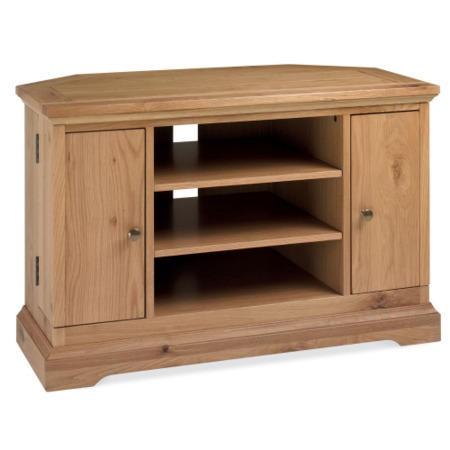 Bentley designs provence oak corner tv unit furniture123 for Furniture 123