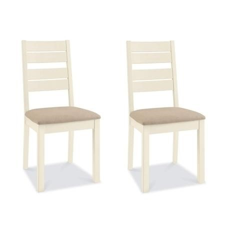 Bentley Designs Provence Two Tone Pair of Chairs in Sand Fabric