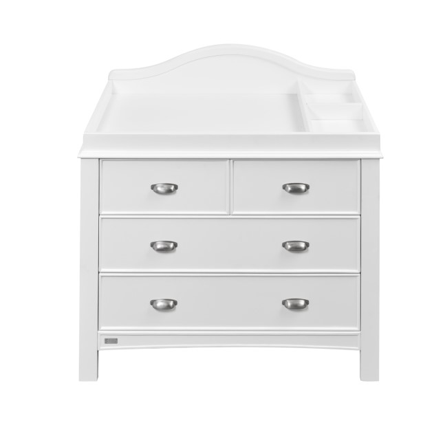 East Coast White 3 Drawer Changing Station with Towel Rail - Toulouse