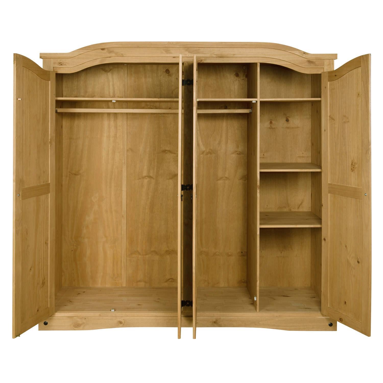 Corona Mexican 4 Door Wardrobe In Solid Pine Furniture123
