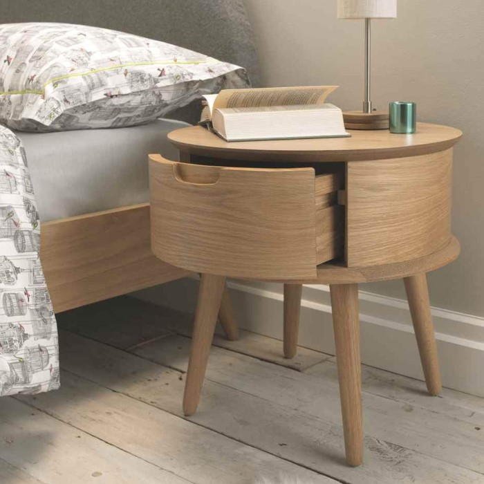 Bentley designs orbit bedside table in oak furniture123 for Bentley designs bedroom furniture