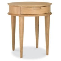 Bentley Designs Oslo Oak 1 Drawer Side Table