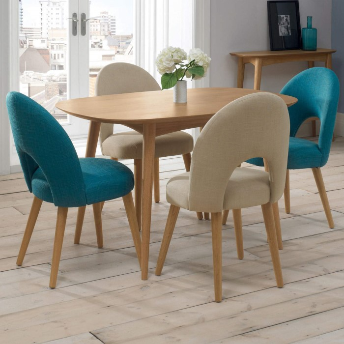 Bentley Designs Pair Of Oslo Upholstered Dining Chairs In Red And