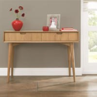 Bentley Designs Oslo Oak Console Table with Drawers