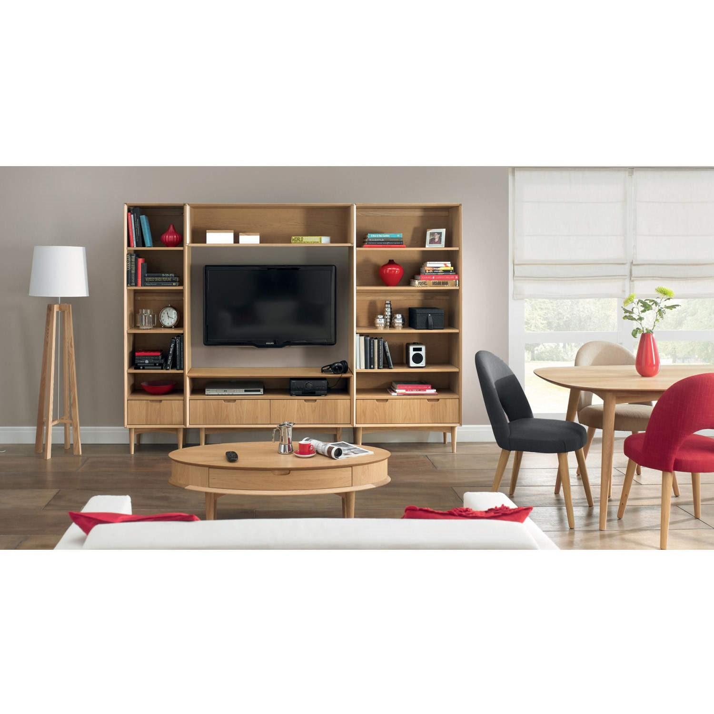 bentley designs oslo oak coffee table with shelf | furniture123