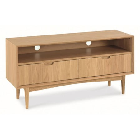 Bentley designs oslo oak entertainment unit furniture123 for Furniture 123