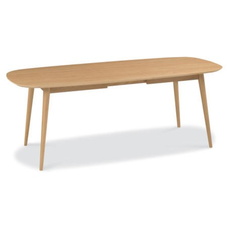 Oslo Scandi Extendable Solid Oak Dining Table Bentley