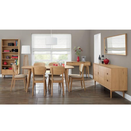 Oslo Scandi Extendable Solid Oak Dining Table - Bentley Designs Range