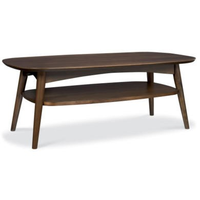 Bentley Designs Oslo Walnut Coffee Table with Shelf