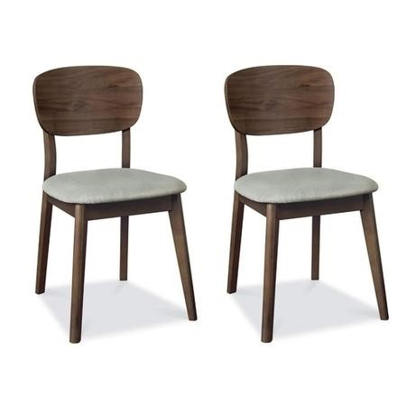 Bentley Designs Pair of Oslo Walnut Dining Chairs