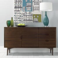 GRADE A2 - Bentley Designs Oslo Walnut Wide Sideboard