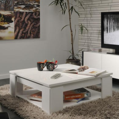 Parisot Quadri Coffee Table in Shiny White
