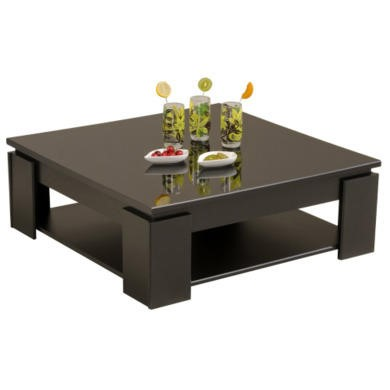 Parisot quadri coffee table in shiny black furniture123 - Delamaison table basse ...