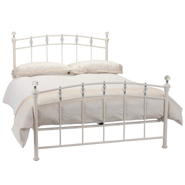 Julian Bowen Sophie Double Bed In Stone White Furniture123