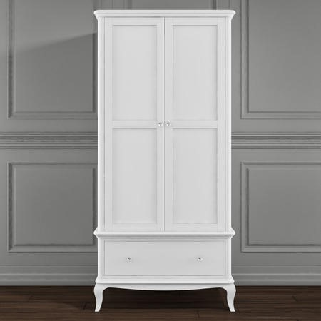 Florentine White 2 Door Wardrobe with Drawers