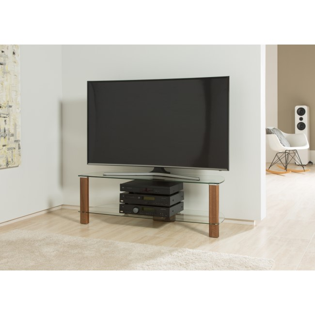 "Alphason ADCE1200-WAL Century TV Stand for up to 55"" TVs - Walnut"
