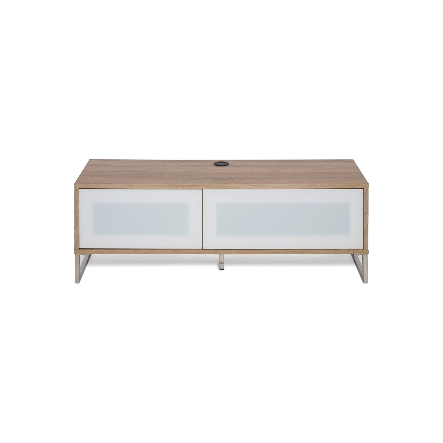 wholesale dealer 943e3 0bb92 Helium Wall Mounted TV Unit in Oak with White Infra Red Friendly Doors