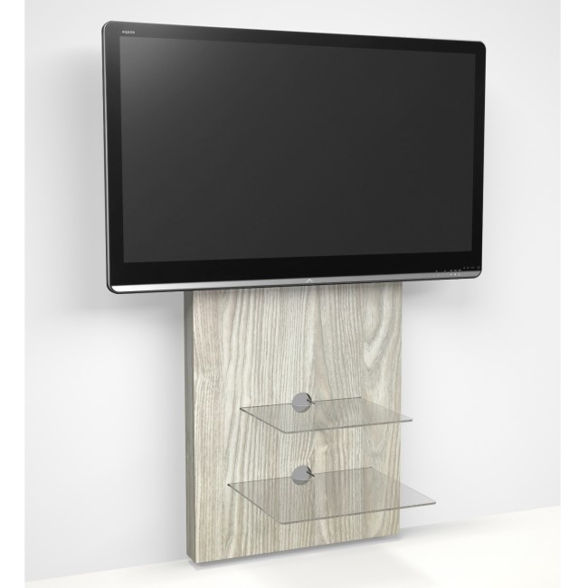 Wall Mounted TV Unit in Light Oak - TV's up to 80""