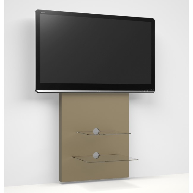 Wall Mounted Wood Effect TV Stand - TV's up to 80""