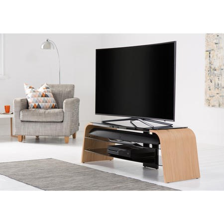 "Alphason ADSP1400-LO Spectrum Light Oak TV Stand for up to 65"" TVs"