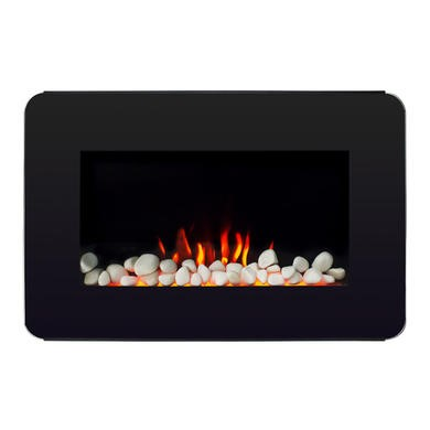 AmberGlo Curved Corners Wall Hanging Electric Fire
