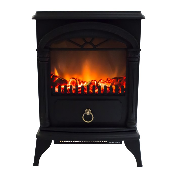 Amberglo Electric Wood Burning Stove Fire Black