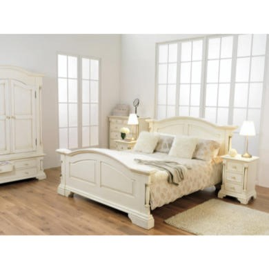 Wilkinson Furniture Ailesbury Solid Pine Double Bed Frame in Cream