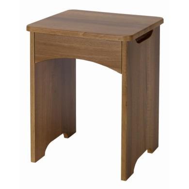 One Call Furniture Alive Gloss stool in Natural Aida Walnut